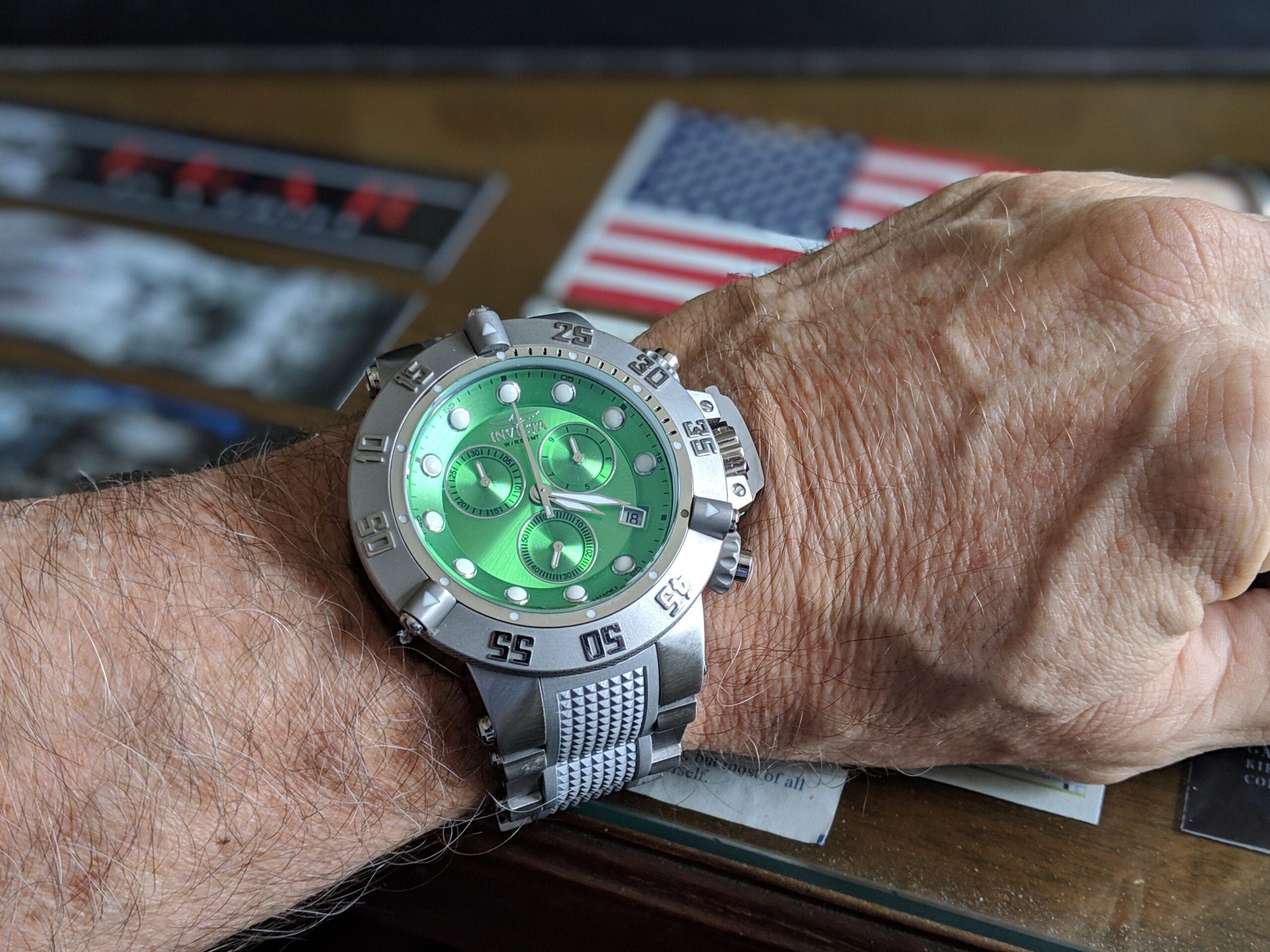 Invicta Watch with green face
