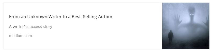 Unknown Writer to Best-Selling Author screenshot.
